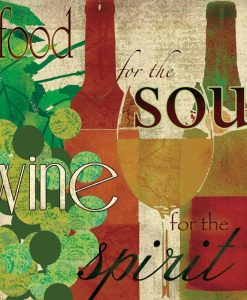 Composizione grafica variopinta a tema vino