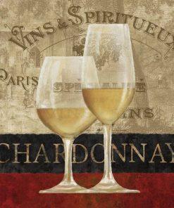 Composizione con bicchieri di vino bianco