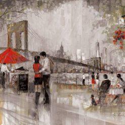 Passeggiata romantica di una coppia a New York