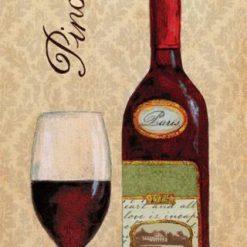 Composizione con bottiglia e bicchiere di vino rosso