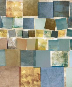 Composizione con serie di quadrati effetto carta