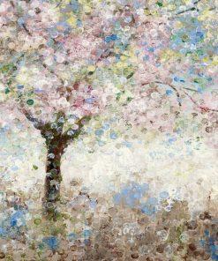 Dipinto di alberi di ciliegie fioriti