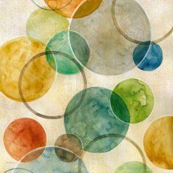 Composizione con cerchi sovrapposti di vari colori