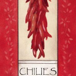 Grappolo di peperoncini rossi
