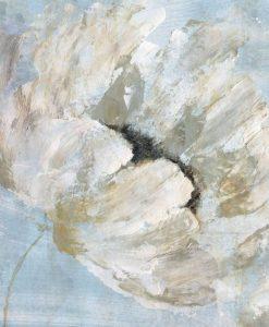Dipinto con effetto sfumato di un fiore bianco
