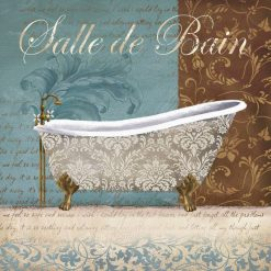 Vasca da bagno accompagnata da motivi decorativi floreali