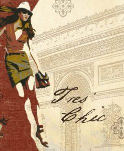 Donna alla moda in una composizione parigina