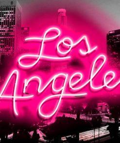 """Neon rosa con scritta """"Los Angeles"""""""