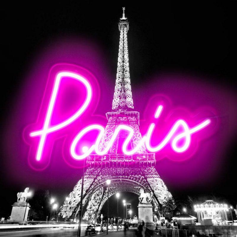 Hailey Carr Neon Paris Art Plus Vendita Stampe Su Tela Quadri