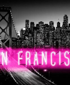 "Neon rosa con scritta ""San Francisco"""