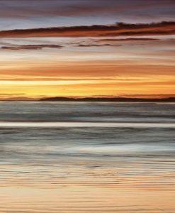 Cielo e mare illuminati al tramonto