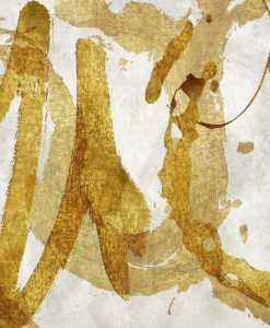 Dettaglio di segni dorati su sfondo chiaro