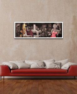 Amici famosi al bar, James Dean, Marilyn Monroe, Elvis Presley