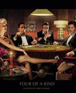 Amici famosi giocano a poker Elvis Presley, Marilyn Monroe, James Dean