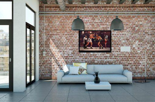 Ambientazione Incontro di boxe fra amici Marilyn Monroe, Elvis Presley, James Dean