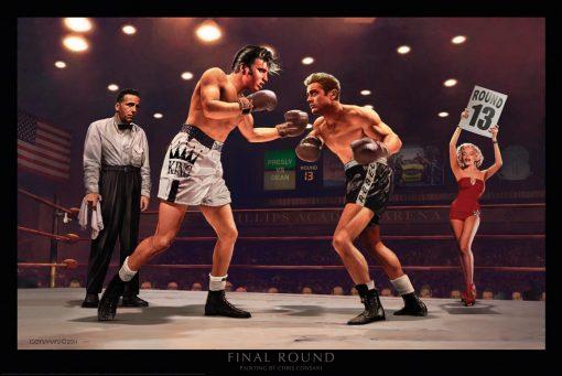 Incontro di boxe fra amici Marlin Monroe, Elvis Presley, James Dean