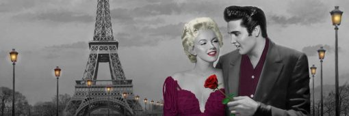 Appuntamento a Parigi Elvis Presley e Marilyn Monroe