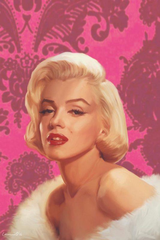Chris Consani - Marilyn Flocked - ART+PLUS vendita stampe su tela ...