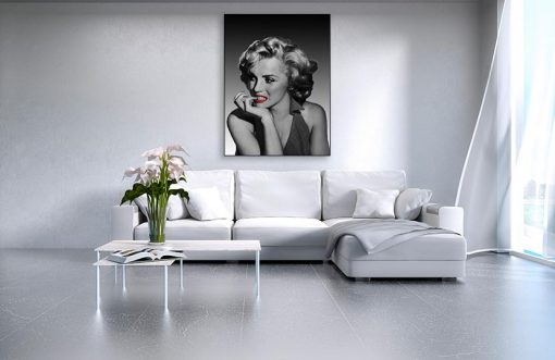 Ambientazione La famosa diva distoglie lo sguardo Marilyn Monroe