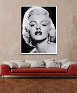 Ambientazione La famosa diva in bianco e nero Marilyn Monroe