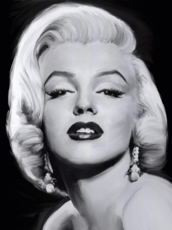 La famosa diva in bianco e nero Marilyn Monroe