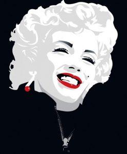 La famosa stella del cinema sorridente