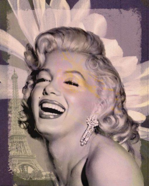 Ritratto della celebre attrice che ride