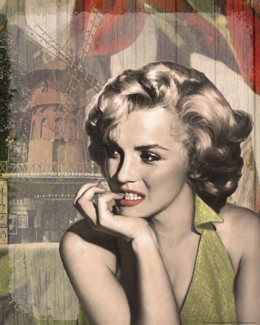 Ritratto della celebre attrice pensierosa