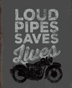 Silhouette di una motocicletta con messaggio in stile vintage