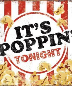 Illustrazione con popcorn e messaggio