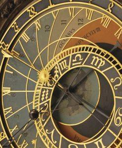 Dettagli del quadrante di un orologio vintage