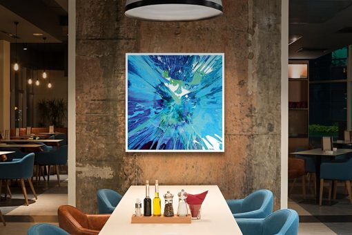 Ambientazione Schizzo di pittura blu