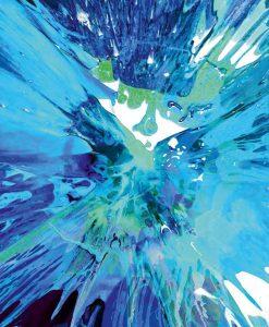 Schizzo di pittura blu