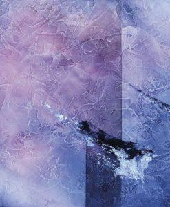 Dipinto con pennellate blu scuro su sfondo a effetto texture