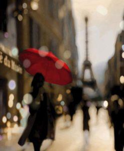 Fotografia di una via di Parigi ad effetto sfocato
