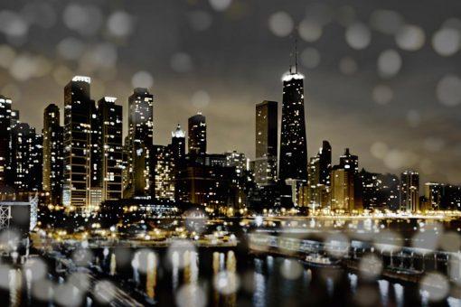 Chicago con effetti di luce