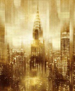 New York con effetto riflessi oro
