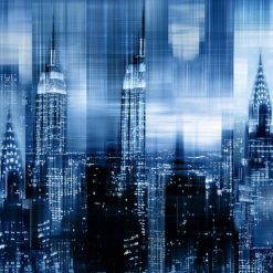 New York con effetto riflessi blu