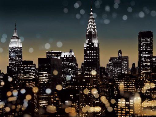 New York con effetti di luce