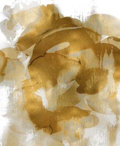 Acquerello di una mescolanza di grigio e oro