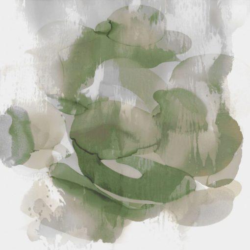 Acquerello di una mescolanza di grigio e verde