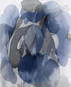 Acquerello di una mescolanza di grigio e blu