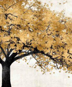Albero con fiori oro