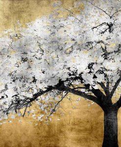Albero con fiori argento