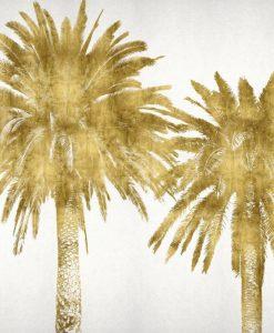 Silhouette di palme dorate