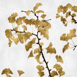 Rami di gingko con foglie dorate