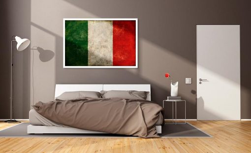 Bandiera italiana con effetto vissuto
