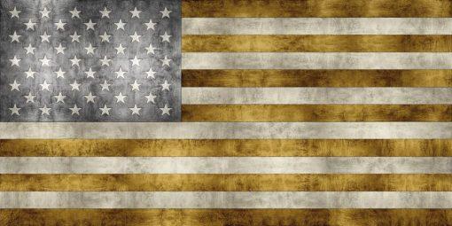 Bandiera degli Stati Uniti dorata
