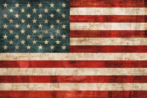 Bandiera americana con effetto vissuto