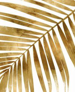 Dettagli di una foglia di palma dorata